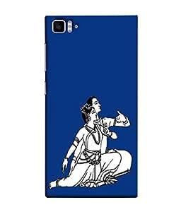 PrintVisa Designer Back Case Cover for Xiaomi Mi3 :: Xiaomi Mi 3 (The Dancing Couple In Blue Background)