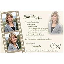 15 Individuelle Fotokarten KE 67 Als Einladung, Einladungskarte, Kommunion,  Konfirmation, Firmung Im