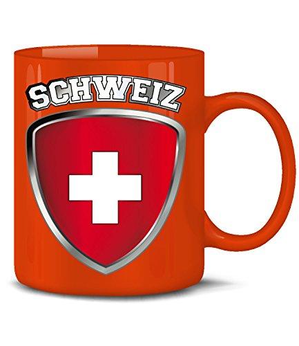 tzerland Fan Artikel 4701 Fuss Ball Welt Europa Meisterschaft EM 2020 WM 2022 Kaffee Tasse Becher Geschenk Ideen Fahne Flagge Team Rot ()