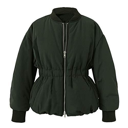 Soupliebe Damen Oberbekleidung Taille Baseball Gesteppte Uniform Jacken Pocket Zippe Mäntel Jacken Mäntel Sweatjacke Winterjacke Fleecejacke Steppjacke