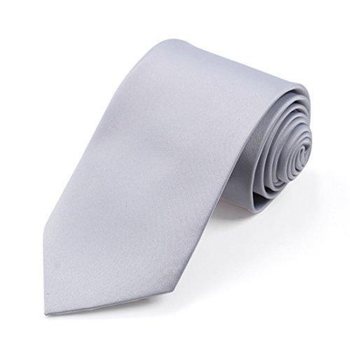 DGDE.01 Plaine microfibres gilet cravate par Dan Smith DGDE0004-Argent
