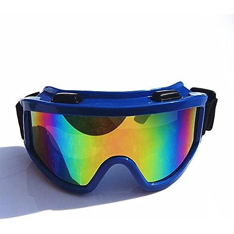 BGFG Occhiali Da Sci Antipolvere Anti-shock TPU PC,Basket-Color