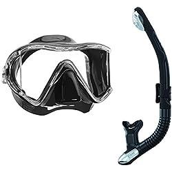 Mares i3 masque de plongée à mono ergo dry trockenschnorchel Noir