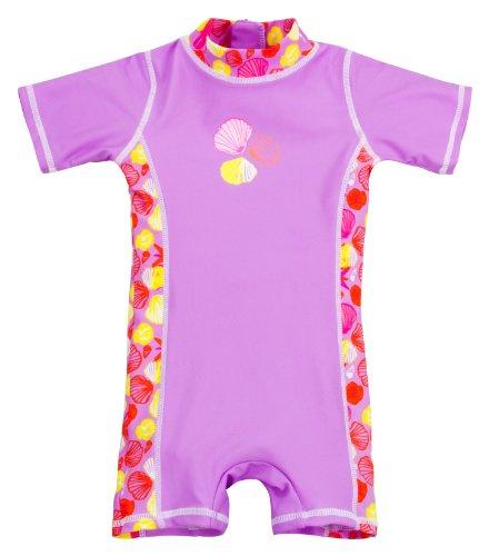 Landora Baby-Badebekleidung Einteiler mit UV-Schutz 50+ und Oeko-Tex 100 Zertifizierung in violett; Größe 62/68