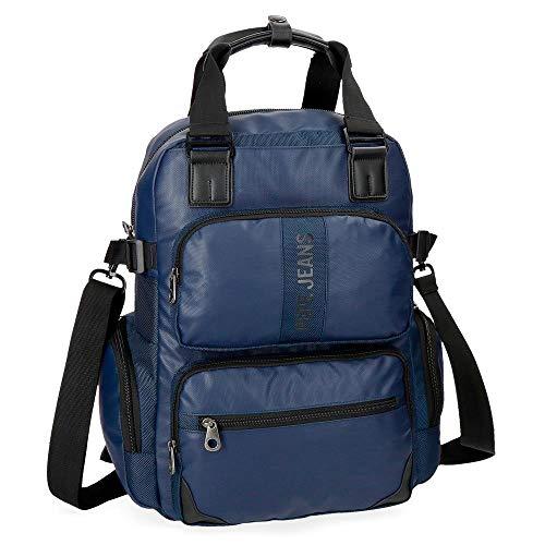 Pepe Jeans Bromley Mochila Tipo Casual, 41 cm, 18.37 litros, Azul