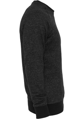 Urban Classics Melange Terry Crewneck Sweater Blac Black