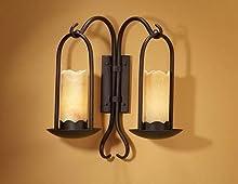 SCHULLER | Aplique de forja : Colección CANDELA de 2 luces. | Decoracion Hogar
