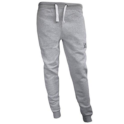 urban air | Athleisure One | komfortable Jogginghose, Sporthose, Sweatpants | Herren | für Fitness und Freizeit | grau, schwarz | S, M, L
