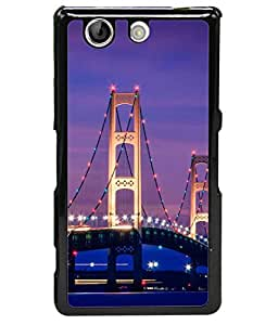 PrintVisa Designer Back Case Cover for Sony Xperia Z4 Mini/Compact (multi coloured decoration on bridge)