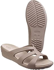 crocs Damen Snrhstrappywdg Offene Sandalen mit Keilabsatz