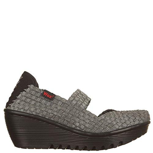 online retailer 614a8 9cfef Woz Wozup323elpl36, Damen Sneaker silber silber / schwarz 36 ...