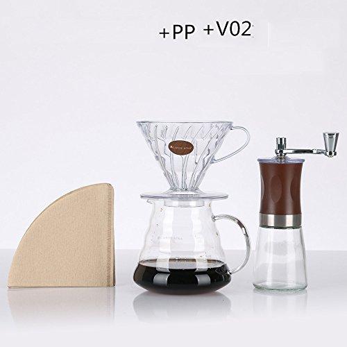 Grinder manuelle de moulin à café / Grinder de poivre de main / Mini machine à laver Grinder portable de grinding / de verre (10 couleurs facultatives) ( couleur : # 6 )
