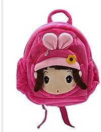 Shopaholic Cute Pretty Girl Soft bag for Kids Bag, Cartoon Bag, Plush Bag ( 597bbbcfff
