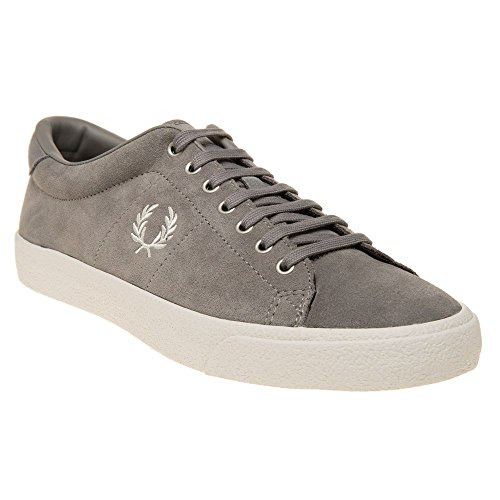Fred Perry Underspin Suede Uomo Sneaker Grigio