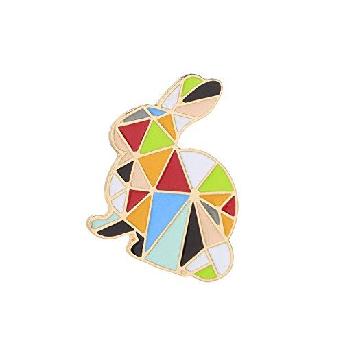 Adisaer Damen Karikatur Brosche Emaille Kaninchen Broschen Multi Farben Mädchen 1 Stück (Quick Kostüm Halloween Katze)