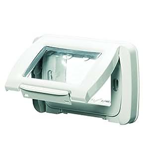 Gewiss 22451 Placca, Stagna Autoportante, Serie System, Bianco