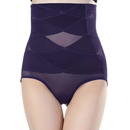 Damen Frauen Miederslip Unterwäsche Shapewear Miederhose Figurformer Lila