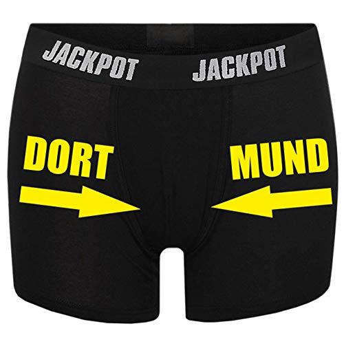 Männer Boxershort mit Spruch Dort Mund (Größe S bix XXXL)