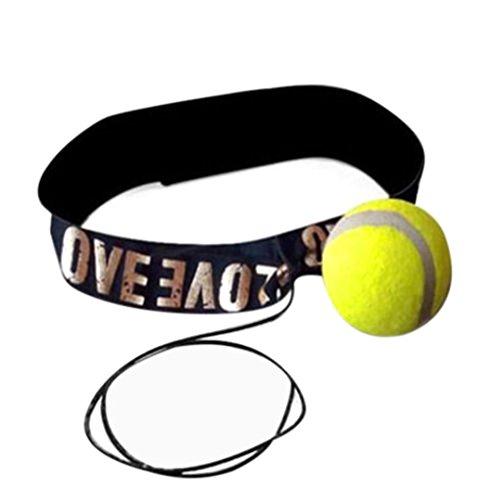 Jaminy Kampf Ball mit Kopfband für Reflex Speed Training Boxing Punch Kampf Ball (Gelb)