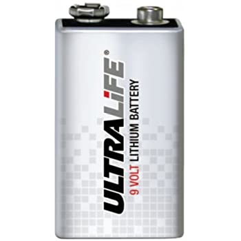 Ultra Life Lithium 9V Lithium 1200mAh 6AM6 ( 9V- Piles) - U9VL-J