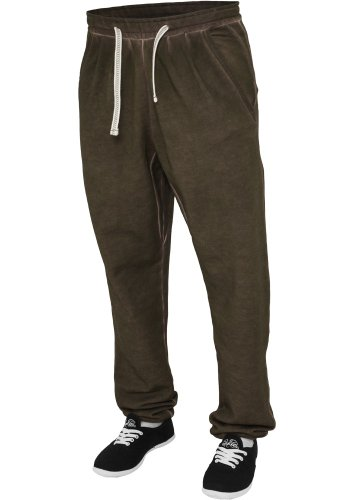 Urban Classics Damen Sporthose Ladies Spray Dye Sweatpant Gelb
