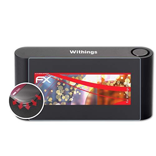 atFoliX Schutzfolie passend für Withings Pulse Ox/Pulse O2 Folie, entspiegelnde & Flexible FX Bildschirmschutzfolie (3X)