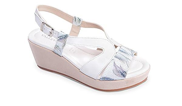 Damen Sandalen weiß weiß 38, weiß - weiß - Größe: 36 EU Valleverde