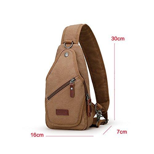 Anjcd Männer Chest Pack Segeltuch Bewegung Messenger Bag Umhängetaschen Reisen Kleine Rucksack 2#