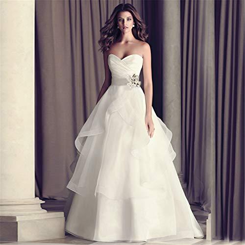 DROHE-Q Brautkleid Braut Schwangere Frau Mode bodenlange hohe Hüftgurt große einfache dünne...