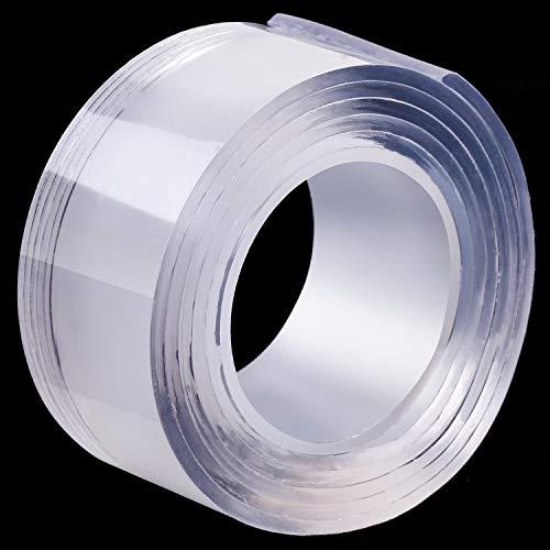 Multifunktionales Doppelseitiges Klebeband Wiederverwendbares Klebstoff Klebeband Spurlos Waschbar Klebeband Transparent Gel Klebeband -