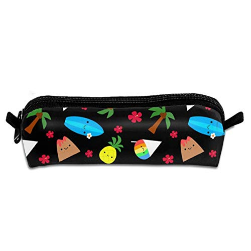 Island Friends At NightPencil Bag Pen Case Pen Pencil Stationery Pouch Bag Case PU Leather Small Pencil Pouch for Students children