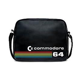 Borsa a tracolla Commodore C64 – Nerd – Borsa – Retro – negro – design originale concesso su licenza – LOGOSHIRT
