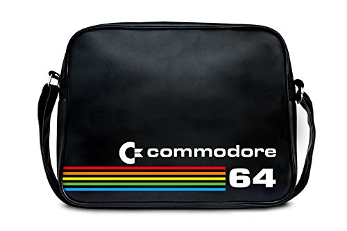 Shoulder Bag Commodore C64 - Messenger Bag - Nerd - Sports Bag - Retro - black - Licensed original design - High quality - LOGOSHIRT