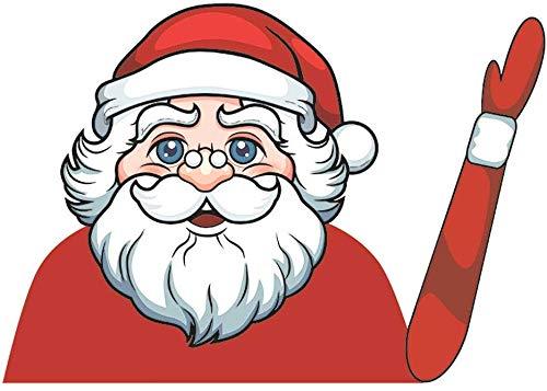 Lumon Weihnachten Auto Heckscheibe Wischer Aufkleber, Windschutzscheibe Santa Claus Cute Fenster Aufkleber, Schneemann Winkend Arm Wischer Aufkleber für Auto - D -