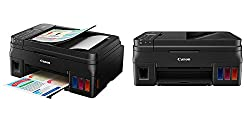 Canon Pixma G4000 Inkjet Printer (Wireless All-In-One for High Volume Printing with Fax)