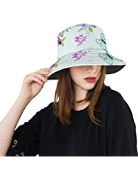Blooming Flower Butterfly Beauty New Summer Unisex Cotton Fashion Fishing Sun  Bucket Hats for Kid 0e9d0ae55544