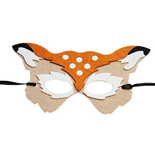 XNNDD Disfraz de Navidad de Halloween Media máscara Máscara de Ciervo Máscara de Disfraces Fiesta de Disfraces Máscara de Carnaval Niño y Adulto