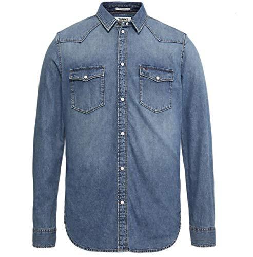 Hilfiger Denim Herren Jeanshemd Western Denim Shirt ARNMB, Blau (Arena Mid Blue Rig 911), (Herstellergröße: XX-Large)