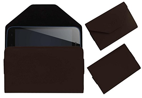 Acm Premium Pouch Case For Micromax Bolt A068 Flip Flap Cover Holder Brown  available at amazon for Rs.179