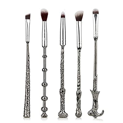 Fashion Base® 5PCS/SET Metal Handle Wand Makeup Brushes Set Eyeshadow Eyebrows Nose Blending Brushes Kabuki Make up Brush from Fashion Base®