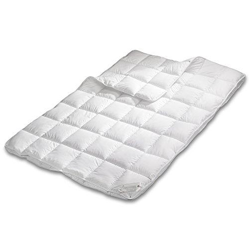 GOLD STERN Medicate Allergiker Vierjahreszeitendecke, Atmungsaktive Bettdecke 95 Grad waschbar (135x200 cm)