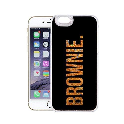 finoo | Iphone 6 Plus / 6S Plus Flüssige Liquid Goldene Glitzer Bling Bling Handy-Hülle | Rundum Silikon Schutz-hülle + Muster | Weicher TPU Bumper Case Cover | Katze auf Ast Brownie Black