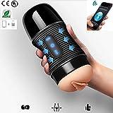 My's baby Wnmdpz Dispositivo di masturbazione Umana, Tazza di masturbazione dell'altoparlante di Bluetooth, 8 Tipi di frequenza di Vibrazione, Giocattoli del Sesso