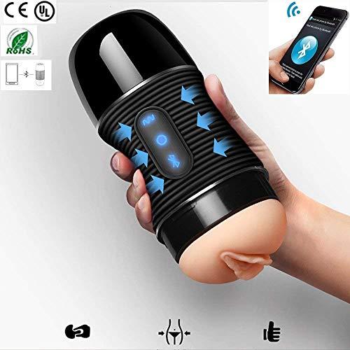 Lnzz Human Masturbation Gerät, Bluetooth-Lautsprecher Masturbation Tasse, 8 Arten von Vibrationsfrequenz, Sex-Spielzeug