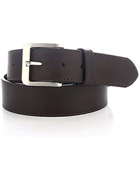 LUCHENGYI Cinturón Ancho de Cuero de Moda para Trajes Casuales de Hombres 40mm