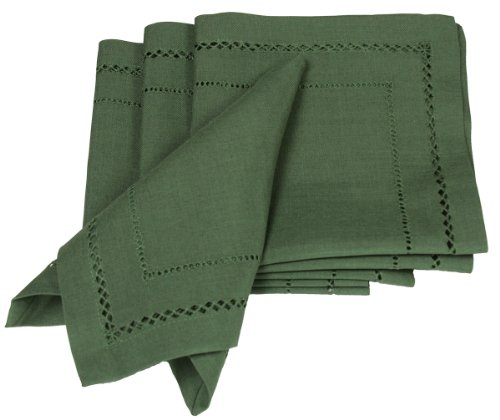 Xia Home Fashions Doppelte Hohlsaum einfach, Care Servietten, 20von 20, Kiefer, Set 4 4 Servietten Basic