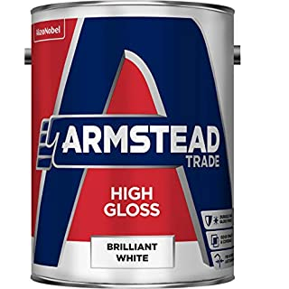 Armstead Trade High Gloss Paint Brilliant White 5 litres