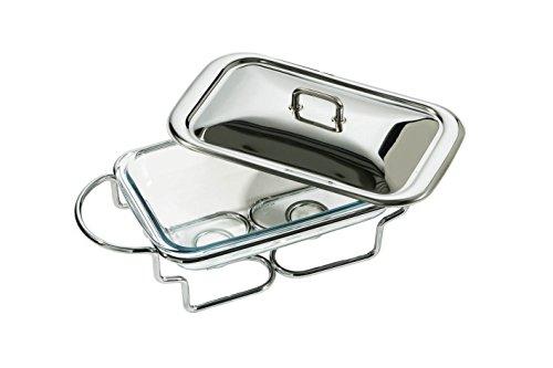 Premier Housewares - Recipiente para mantener los alimentos calientes (acero inoxidable, 1,6 l)