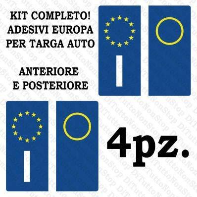 StickersLab - ADESIVI PER TARGA ITALIANA KIT DA 4 PEZZI RIFRANGENTI ULTRA RESISTENTE