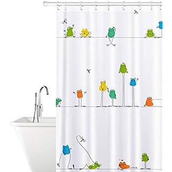 Tafkraft funny frogs rideau de douche baignoire anti moisissures 180 x 180 fermeture tanche - Moisissure noire douche ...